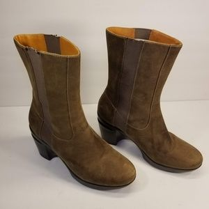 NWOB Cole Haan Sara Brown Nubuck Oiled Boots 7B